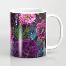 Whimsical Watercolor night garden floral hand paint Coffee Mug