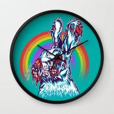 Zombie Rabbit Wall Clock