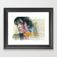ange Framed Art Print