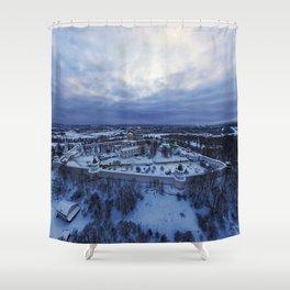jerusalem forts temples Shower Curtain