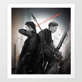 Sniper and Knight Art Print