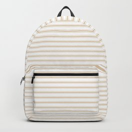Almond Baby Camel Mattress Ticking Narrow Striped Pattern - Fall Fashion 2018 Backpack