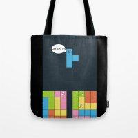 tetris Tote Bags featuring Tetris by sEndro