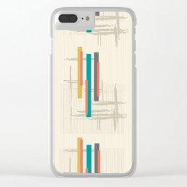 "Mid Century Modern ""Bar"" Clear iPhone Case"