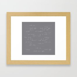 East Sleep Sex - Charcoal Framed Art Print