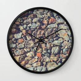 Cobblestones Wall Texture Wall Clock