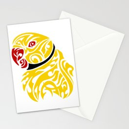 Lutino ringneck parrot tattoo Stationery Cards
