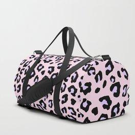 Leopard Print - Lavender Blush Duffle Bag