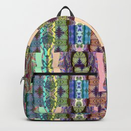 Magical Textile Rainbow Abstract Backpack