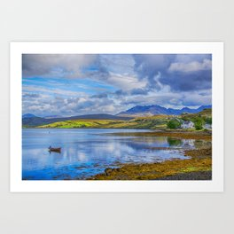 Loch Harport and the Cuillins 3 Art Print