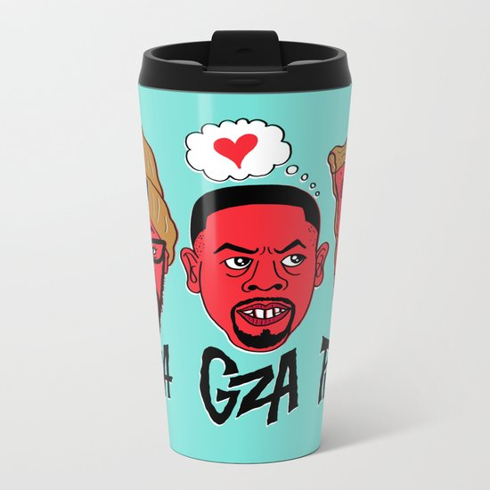 RZA, GZA, PIZZA Metal Travel Mug