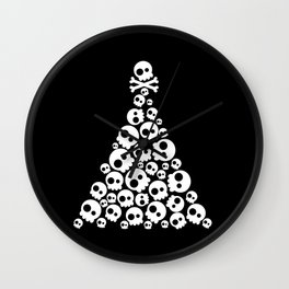 Skulls Christmas Tree Wall Clock