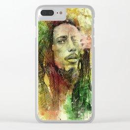 Reggae Rebel (Marley) Clear iPhone Case