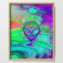 Alien Melt - purple Serving Tray