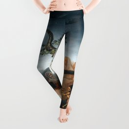 The Sabbath of Witches Goya Painting Leggings