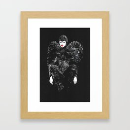 Mcqueen`s black swan. Framed Art Print