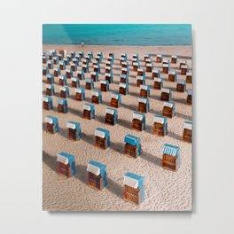 Social distance at the beach Metal Print