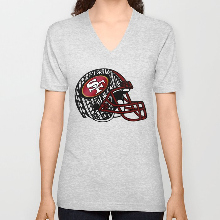 46ebd4162 Tribal Style 49ers Unisex V-Neck by lonicaphotography polydesigns ...