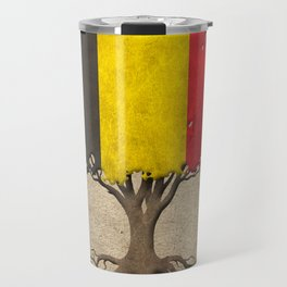 Vintage Tree of Life with Flag of Belgium Travel Mug