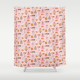 French pastries in pastel Shower Curtain