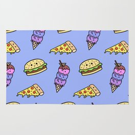 Fast Food Cuties (Blue) Rug