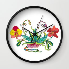 """""""Orchids Galactic"""" Wall Clock"""