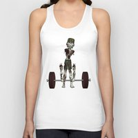 crossfit Tank Tops featuring Crossfit Zombie by RonkyTonk doing Deadlift by RonkyTonk