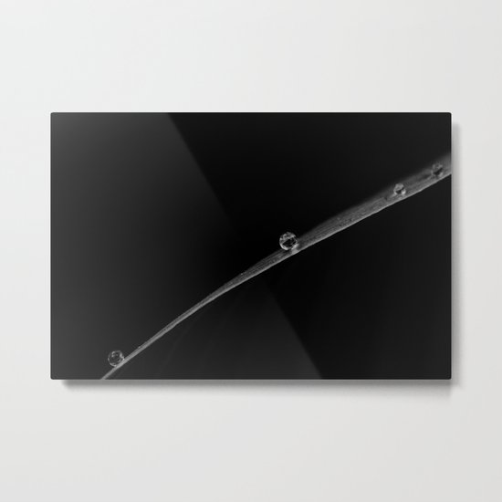 a stripe on black Metal Print