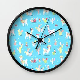 Alpaca Pattern Wall Clock