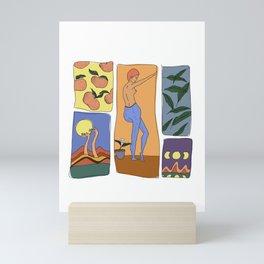 orange moon large Mini Art Print
