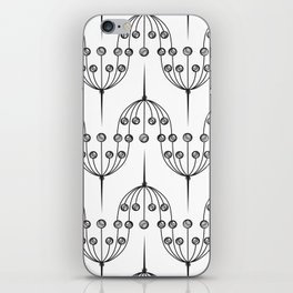 Abstract geometric pattern with floral elements iPhone Skin