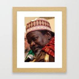 Imam Cisse Speech Framed Art Print