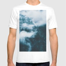 Embracing serenity - Landscape Photography White MEDIUM Mens Fitted Tee
