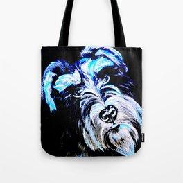 Blue Schnauzer Tote Bag
