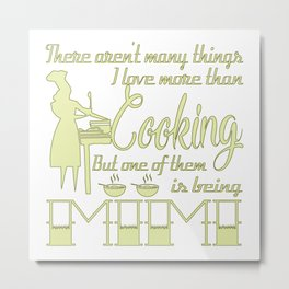 Cooking Mimi Metal Print