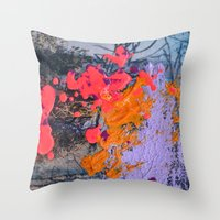 new jersey Throw Pillows featuring New Jersey by Aniko Gajdocsi