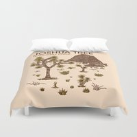 the national Duvet Covers featuring Joshua Tree National Park by Hinterlund