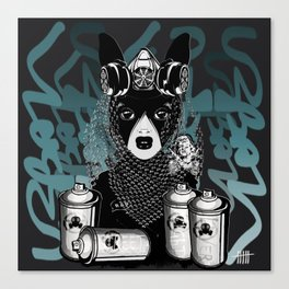 RAD RIDE and SPRAY CANS Canvas Print