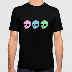 pastel skull Mens Fitted Tee Black MEDIUM