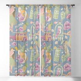 Hula Half Drop Sheer Curtain