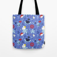 pirates Tote Bags featuring Pirates by lindsey salles