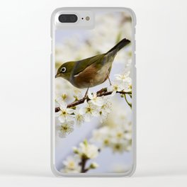 A Bird Perching on a Twig Clear iPhone Case