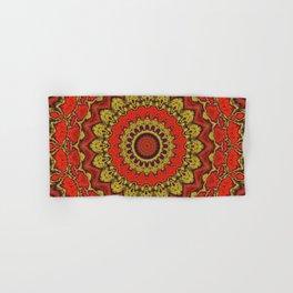 Mandala Fractal in Indian Summer 03 Hand & Bath Towel