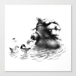 Wader Canvas Print