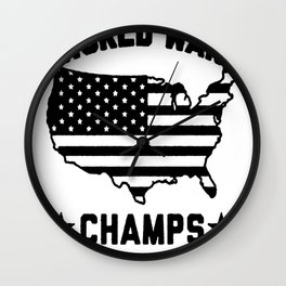 BACK TO BACK WORLD WAR CHAMPS T-SHIRT Wall Clock