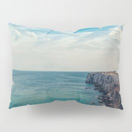 Cliff into the ocean Pillow Sham
