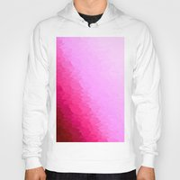 hot pink Hoodies featuring Pink Ombre by SimplyChic