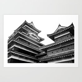 Matsumoto Japan Black & White Art Print