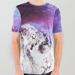 Purple and Blue abstract All Over Graphic Tee