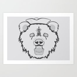 Pirate Bear Art Print